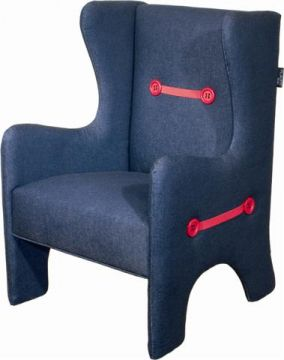 Wing Chair - Kids Reading Chair - Dark Denim