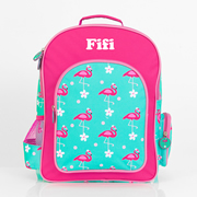.Backpack for Kids Personalised - Essentials Backpack Flamingo