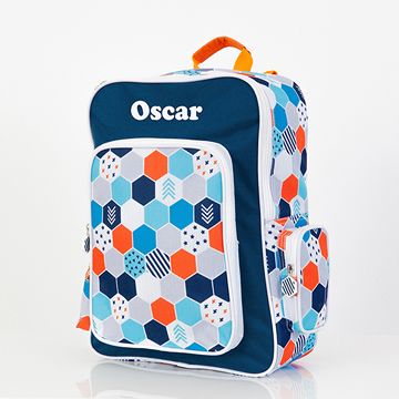 .Backpack for Kids Personalised - Mighty Backpack Hexagon Matrix