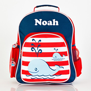 .Backpack for Kids Personalised - Pre School Backpack Whale of a Time