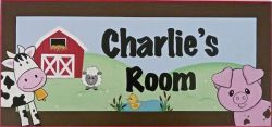 Personalised Name Plaque for kids wall or door Farm yard Friends