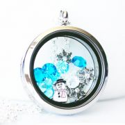 Floating Memory Locket Readymade - Frozen Theme