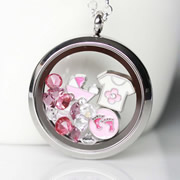 Floating Memory Locket Readymade - For Baby Girl
