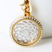 Floating Memory Locket Readymade - Locket + Intricate Spiral Combo Theme
