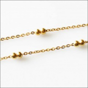Gold Tone Stainless Steel - Fancy Ball Necklace for memory lockets - 18 - 20 inch (46 - 51 cm) long