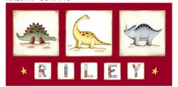 Canvas Name - Dinosaurs Avail. in 20 different colours