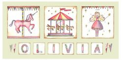 Canvas Name - Carousel Avail. in 20 different colours
