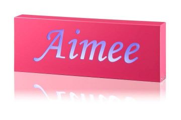 Night Light for kids/Light Box Personalised Fuschia Pink Box - name only
