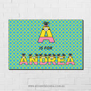 Minions Personalised name plaque canvas for kids wall art - Rectangular with Background - Girls