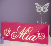 .Night Light /Light box Personalised Choice of colour WITH TWO MOTIFS