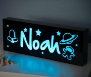 .Night Light /Light box Personalised Choice of colour WITH THREE+ MOTIFS
