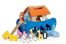 Noah Ark Shape Sorter Wooden Toy for toddlers / kids by Le Toy Van