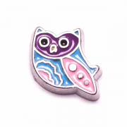 Animal Charm for Floating Memory Locket - Owl - Pink and Blue