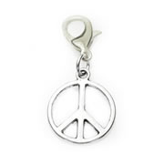 Peace Sign Dangle for Floating Memory Locket