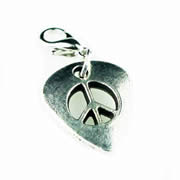 Peace Sign Guitar Pick Dangle for Floating Memory Locket