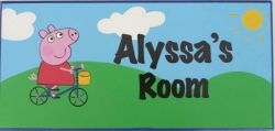 Personalised Name Plaque for kids wall or door Peppa Pig