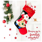 Christmas Stocking for Baby Personalised  Hand Painted - 1st Ho Ho Ho