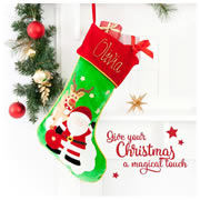 Christmas Stocking for Baby Personalised  Hand Painting - 1st Christmas Stocking Reindeer
