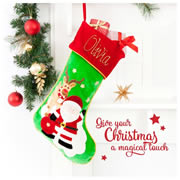 Christmas Stocking for Baby Personalised  Hand Painting - Reindeer