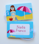 Personalised Bag Tags Beach Princess - Bag Tag