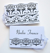 Personalised Bag Tags Black and White - Bag Tag