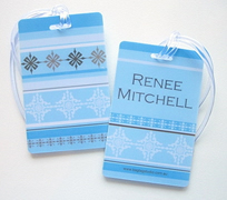 Personalised Bag Tags Blue and Brown - Bag Tag