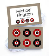 Personalised Bag Tags Casino Royale Mocha - Bag Tag