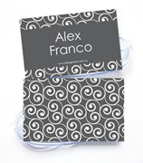 Personalised Bag Tags Charcoal Swirls - Bag Tag