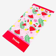 Tropical - Personalised Beach Towel for kids