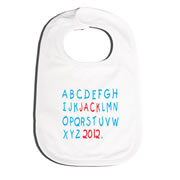 Bib Personalised for Baby - Abc Red