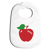 Bib Personalised for Baby - Apple