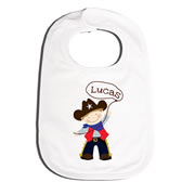 Bib Personalised for Baby - Cowboy