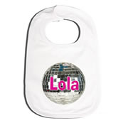Bib Personalised for Baby - Disco Ball