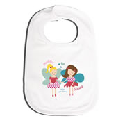 Bib Personalised for Baby - Fairy Best Friends