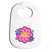 Bib Personalised for Baby - Flower Power