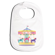Bib Personalised for Baby - Geometric Carousel