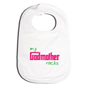 Bib Personalised for Baby - Godmother Rocks