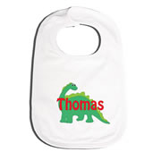 Bib Personalised for Baby - Green Dinosaur