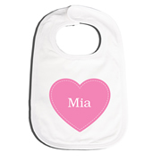 Bib Personalised for Baby - Heart