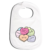 Bib Personalised for Baby - Heart Candy