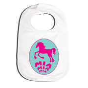 Bib Personalised for Baby - Horsey