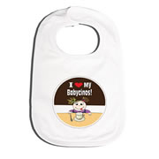 Bib Personalised for Baby - I Love My Babycinos