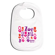 Bib Personalised for Baby - Just Blooming