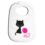 Bib Personalised for Baby - Kitty Cat