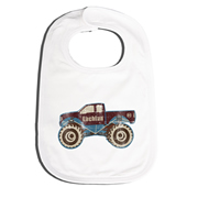 Bib Personalised for Baby - Monster Truck