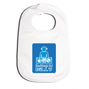 Bib Personalised for Baby - Mr Dj 24-7 Blue