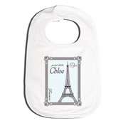 Bib Personalised for Baby - Paris Mint