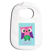 Bib Personalised for Baby - Pink Owl