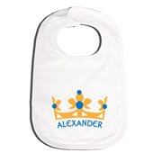 Bib Personalised for Baby - Prince Crown