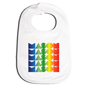 Bib Personalised for Baby - Rainbow Gradient V2